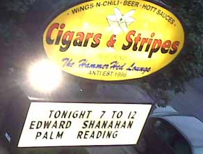 Marquee with Edward Shanahan at Cigars and Stripes in Berwyn, IL